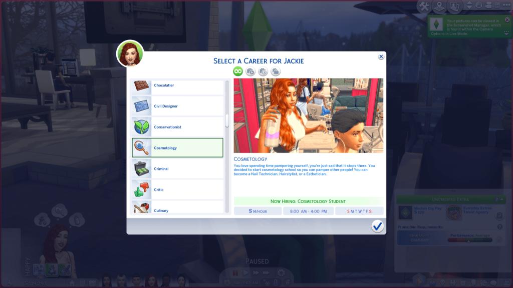 Hair Stylist Career for Sims 4