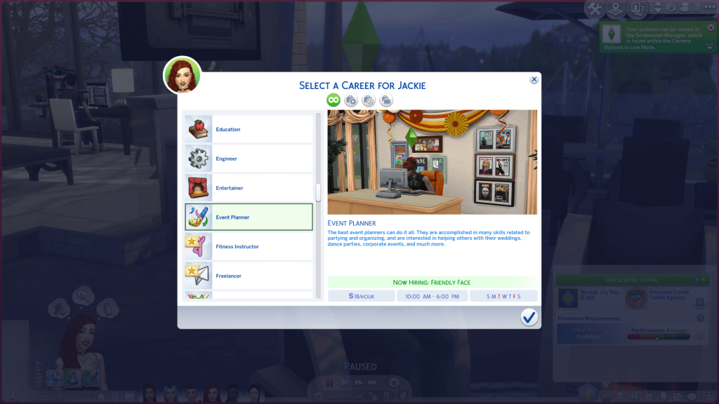 Party Planner Career for Sims 4