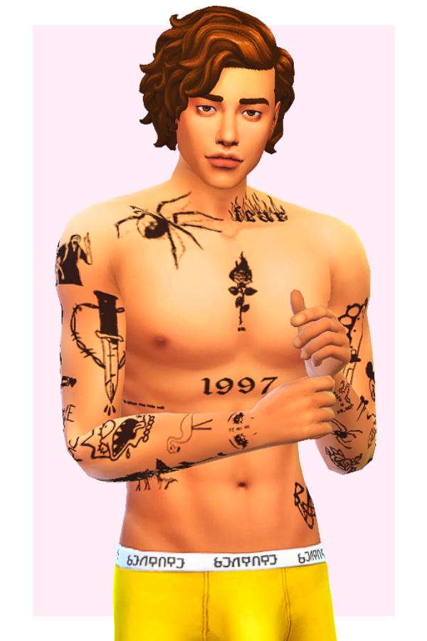 sims 4 tattoos male