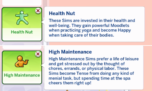 sims 4 traits pack