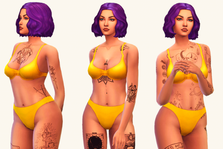 31 Gorgeous Sims 4 Tattoos to Add to Your CC Folder