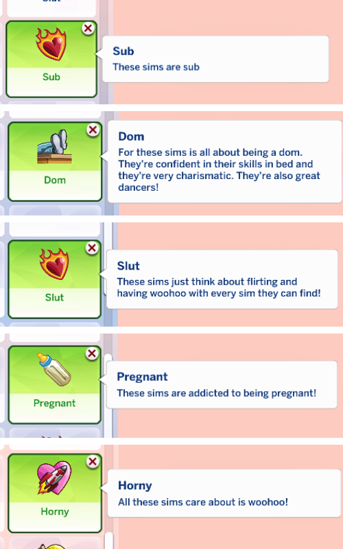 sims 4 wicked whims traits pack
