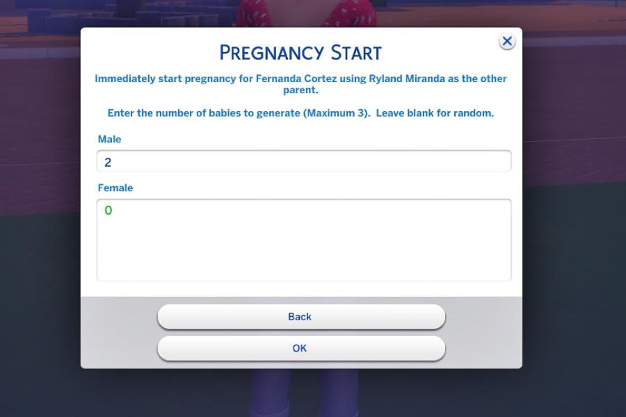 Sims 4 Pregnancy Cheats