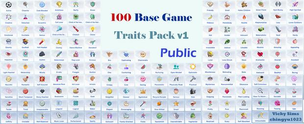 sims 4 cc traits pack