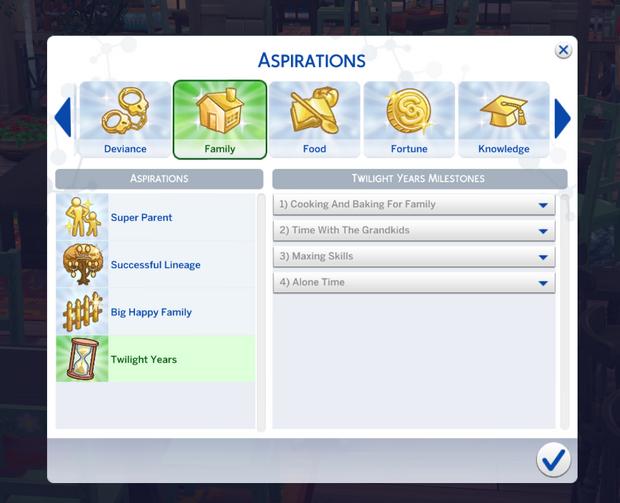 sims 4 elders aspiration