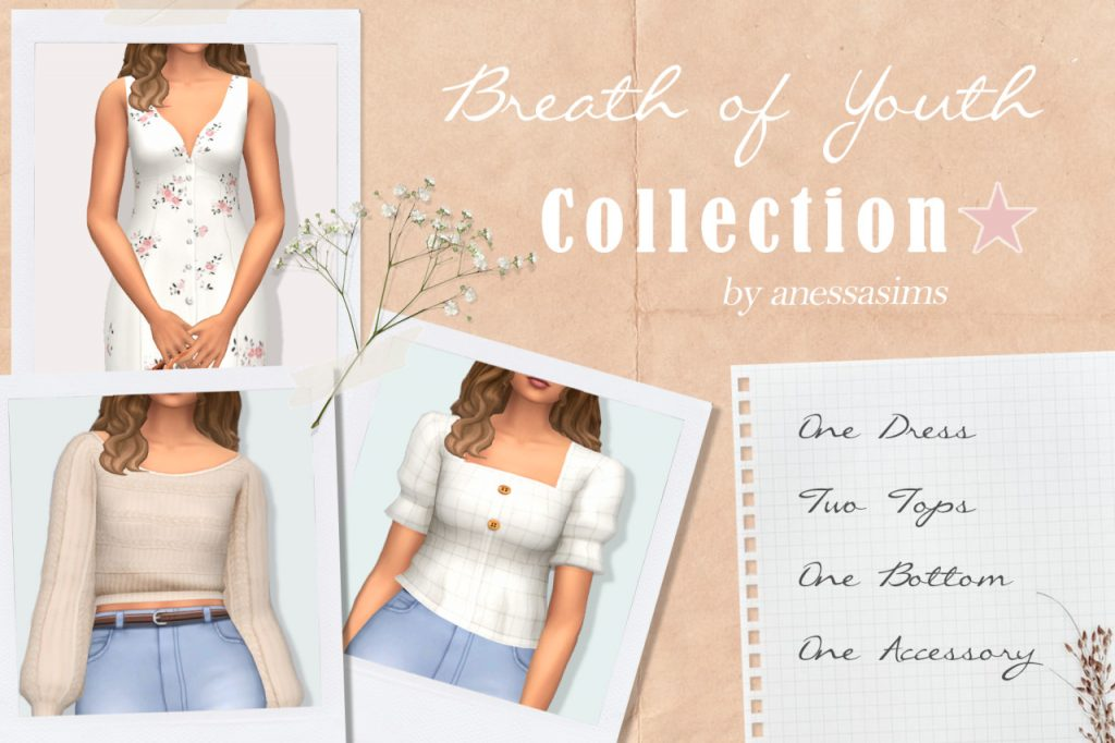sims 4 cottagecore outfits