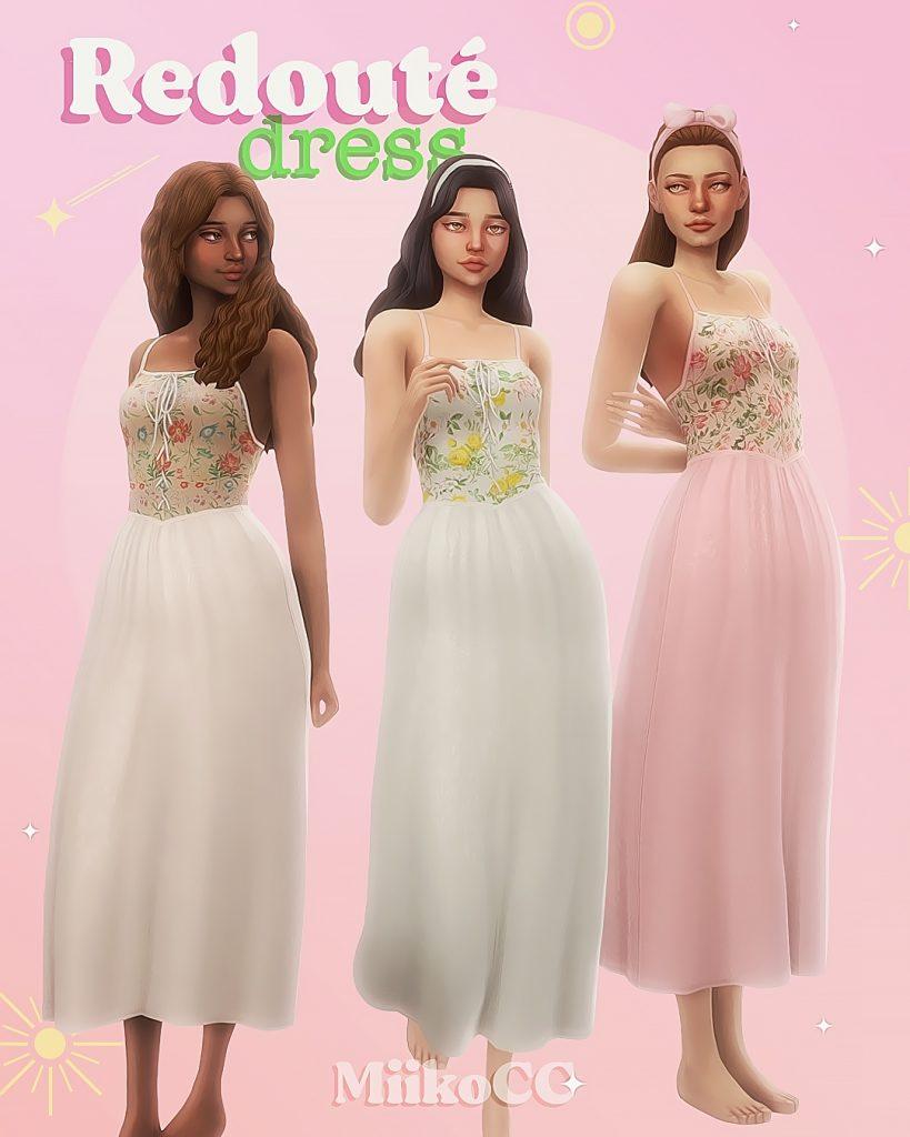 sims 4 cottagecore dress
