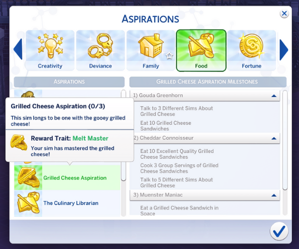 sims 4 cooking aspiration