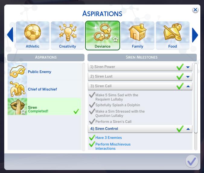 sims 4 mermaid aspiration