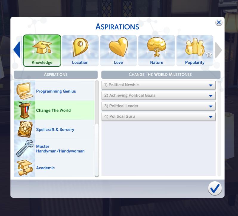 sims 4 aspirations mod
