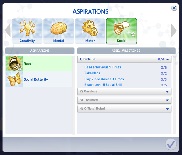 sims 4 child aspiration