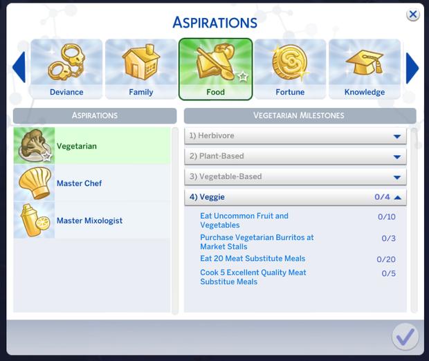 custom aspirations sims 4