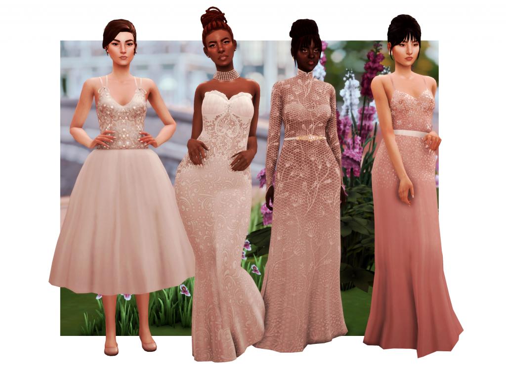 wedding dress cc sims 4