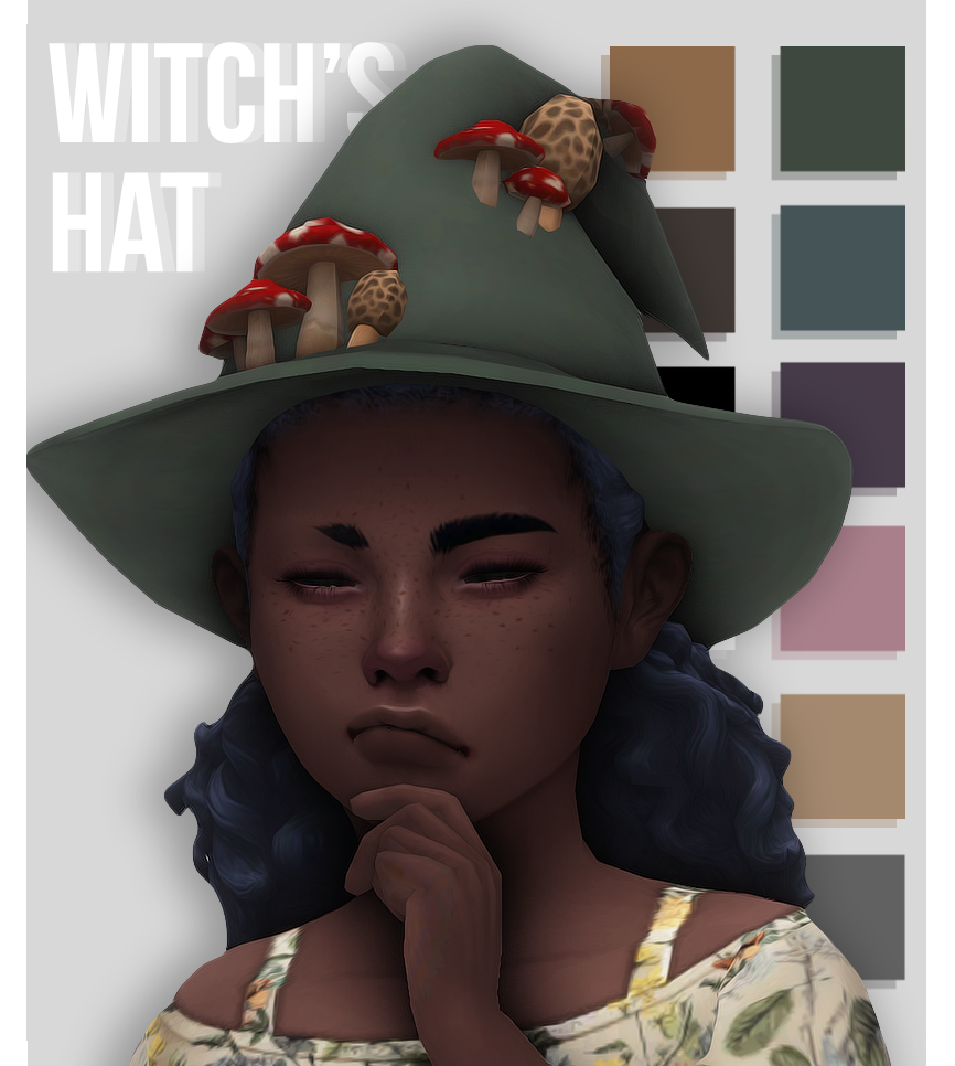 sims 4 witch hat cc