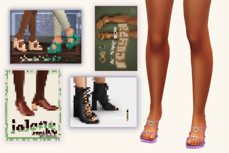 21+ Best Sims 4 CC Shoes to Add to Your CC Folder: Sneakers, Vans, Heels, Birkenstocks, & More!