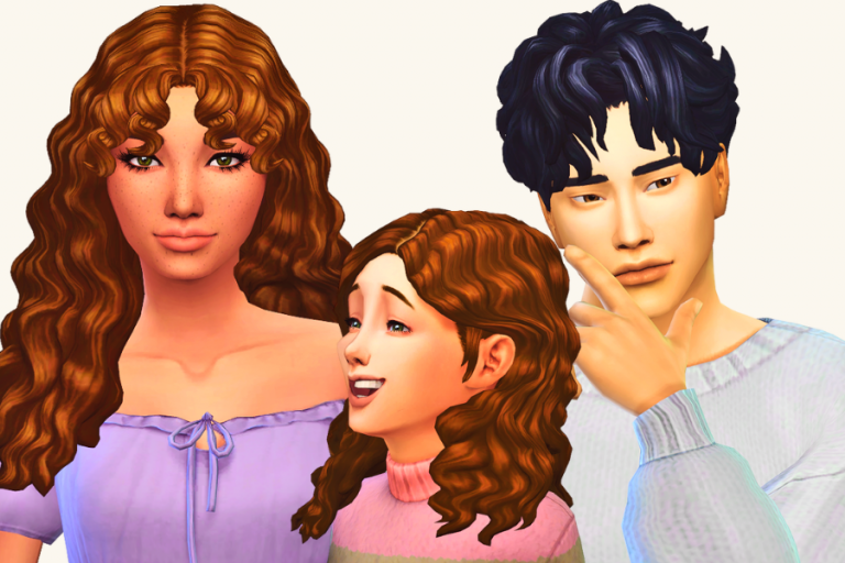 29+ Super Cute Sims 4 Curly Hair CC to Add to Your CC Folder (Maxis Match & Free to Download)